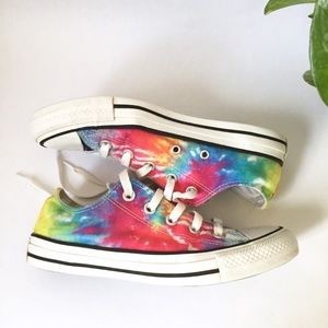 Converse | Low top tie dye Chucks sneakers size 6